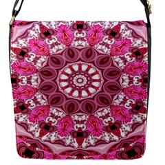 Twirling Pink, Abstract Candy Lace Jewels Mandala  Removable Flap Cover (small) by DianeClancy