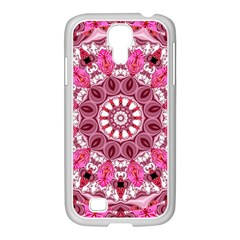 Twirling Pink, Abstract Candy Lace Jewels Mandala  Samsung Galaxy S4 I9500/ I9505 Case (white) by DianeClancy