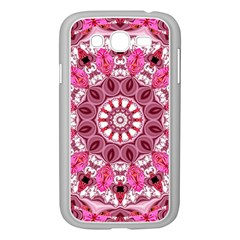 Twirling Pink, Abstract Candy Lace Jewels Mandala  Samsung Galaxy Grand Duos I9082 Case (white)