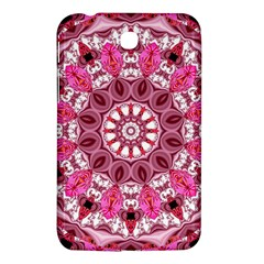 Twirling Pink, Abstract Candy Lace Jewels Mandala  Samsung Galaxy Tab 3 (7 ) P3200 Hardshell Case  by DianeClancy