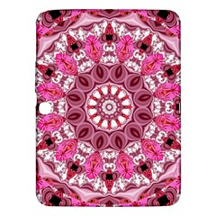 Twirling Pink, Abstract Candy Lace Jewels Mandala  Samsung Galaxy Tab 3 (10 1 ) P5200 Hardshell Case  by DianeClancy