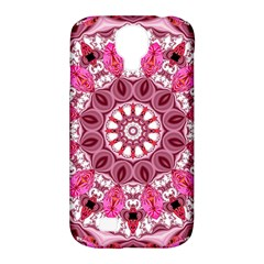 Twirling Pink, Abstract Candy Lace Jewels Mandala  Samsung Galaxy S4 Classic Hardshell Case (pc+silicone)