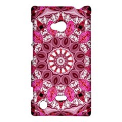 Twirling Pink, Abstract Candy Lace Jewels Mandala  Nokia Lumia 720 Hardshell Case by DianeClancy