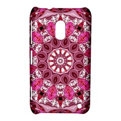 Twirling Pink, Abstract Candy Lace Jewels Mandala  Nokia Lumia 620 Hardshell Case by DianeClancy