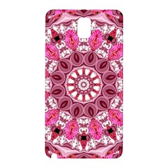 Twirling Pink, Abstract Candy Lace Jewels Mandala  Samsung Galaxy Note 3 N9005 Hardshell Back Case by DianeClancy