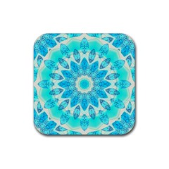 Blue Ice Goddess, Abstract Crystals Of Love Drink Coaster (square)