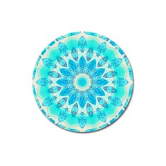 Blue Ice Goddess, Abstract Crystals Of Love Magnet 3  (round) by DianeClancy