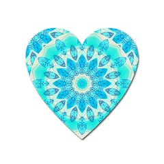 Blue Ice Goddess, Abstract Crystals Of Love Magnet (heart) by DianeClancy