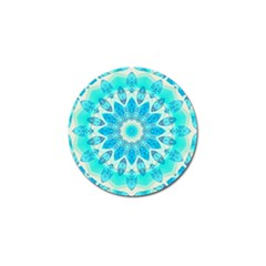Blue Ice Goddess, Abstract Crystals Of Love Golf Ball Marker by DianeClancy