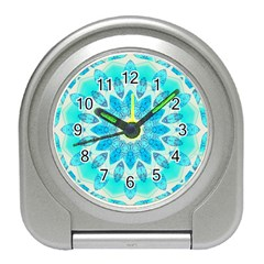 Blue Ice Goddess, Abstract Crystals Of Love Desk Alarm Clock