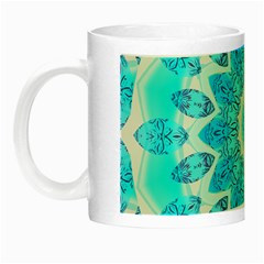Blue Ice Goddess, Abstract Crystals Of Love Glow In The Dark Mug