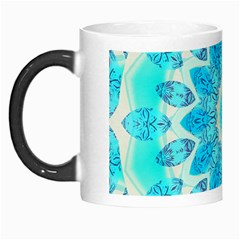 Blue Ice Goddess, Abstract Crystals Of Love Morph Mug by DianeClancy
