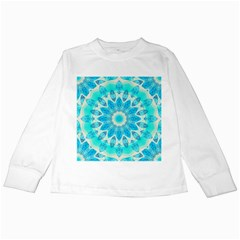 Blue Ice Goddess, Abstract Crystals Of Love Kids Long Sleeve T Shirt