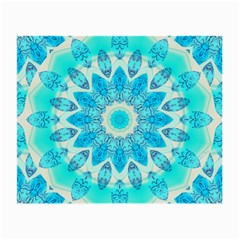 Blue Ice Goddess, Abstract Crystals Of Love Glasses Cloth (small, Two Sided) by DianeClancy