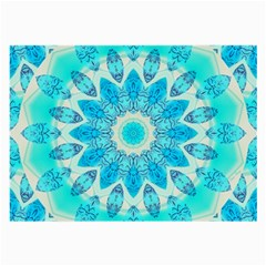 Blue Ice Goddess, Abstract Crystals Of Love Glasses Cloth (large, Two Sided) by DianeClancy