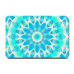 Blue Ice Goddess, Abstract Crystals Of Love Small Door Mat by DianeClancy