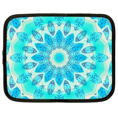 Blue Ice Goddess, Abstract Crystals Of Love Netbook Sleeve (large) by DianeClancy
