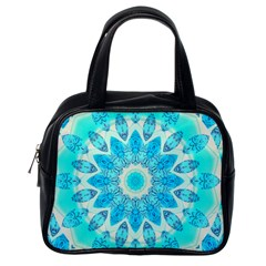 Blue Ice Goddess, Abstract Crystals Of Love Classic Handbag (one Side) by DianeClancy