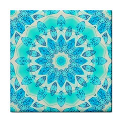 Blue Ice Goddess, Abstract Crystals Of Love Face Towel by DianeClancy