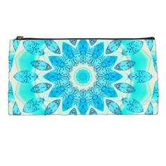 Blue Ice Goddess, Abstract Crystals Of Love Pencil Case