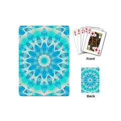 Blue Ice Goddess, Abstract Crystals Of Love Playing Cards (mini)