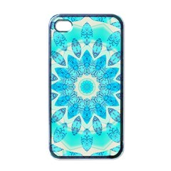 Blue Ice Goddess, Abstract Crystals Of Love Apple Iphone 4 Case (black) by DianeClancy