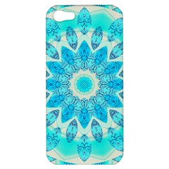 Blue Ice Goddess, Abstract Crystals Of Love Apple Iphone 5 Hardshell Case