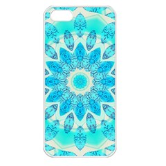 Blue Ice Goddess, Abstract Crystals Of Love Apple Iphone 5 Seamless Case (white) by DianeClancy