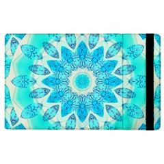 Blue Ice Goddess, Abstract Crystals Of Love Apple Ipad 3/4 Flip Case