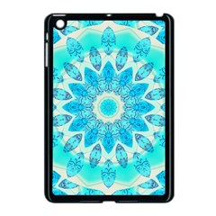 Blue Ice Goddess, Abstract Crystals Of Love Apple Ipad Mini Case (black) by DianeClancy