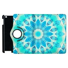Blue Ice Goddess, Abstract Crystals Of Love Apple Ipad 3/4 Flip 360 Case