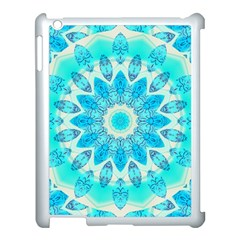 Blue Ice Goddess, Abstract Crystals Of Love Apple Ipad 3/4 Case (white) by DianeClancy