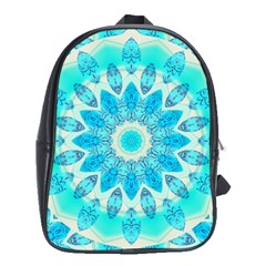 Blue Ice Goddess, Abstract Crystals Of Love School Bag (xl) by DianeClancy