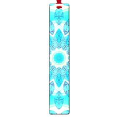 Blue Ice Goddess, Abstract Crystals Of Love Large Bookmark by DianeClancy