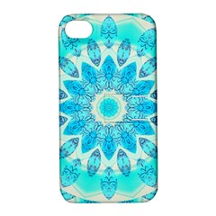 Blue Ice Goddess, Abstract Crystals Of Love Apple Iphone 4/4s Hardshell Case With Stand