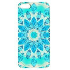 Blue Ice Goddess, Abstract Crystals Of Love Apple Iphone 5 Hardshell Case With Stand by DianeClancy