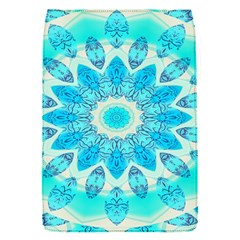 Blue Ice Goddess, Abstract Crystals Of Love Removable Flap Cover (small) by DianeClancy