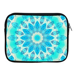 Blue Ice Goddess, Abstract Crystals Of Love Apple Ipad Zippered Sleeve