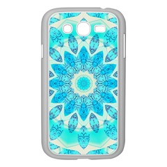 Blue Ice Goddess, Abstract Crystals Of Love Samsung Galaxy Grand Duos I9082 Case (white) by DianeClancy