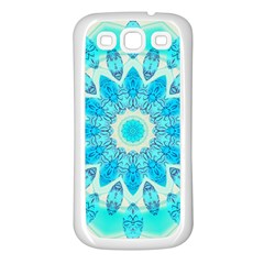 Blue Ice Goddess, Abstract Crystals Of Love Samsung Galaxy S3 Back Case (white) by DianeClancy