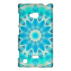 Blue Ice Goddess, Abstract Crystals Of Love Nokia Lumia 720 Hardshell Case by DianeClancy