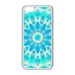 Blue Ice Goddess, Abstract Crystals Of Love Apple Iphone 5c Seamless Case (white)