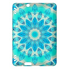 Blue Ice Goddess, Abstract Crystals Of Love Kindle Fire HDX 7  Hardshell Case by DianeClancy