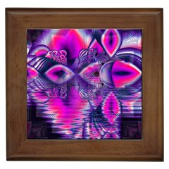 Rose Crystal Palace, Abstract Love Dream  Framed Ceramic Tile by DianeClancy