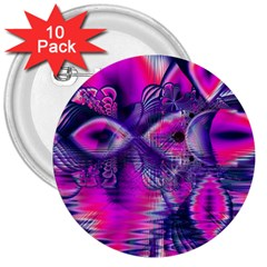 Rose Crystal Palace, Abstract Love Dream  3  Button (10 Pack) by DianeClancy