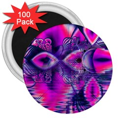 Rose Crystal Palace, Abstract Love Dream  3  Button Magnet (100 Pack) by DianeClancy