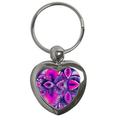 Rose Crystal Palace, Abstract Love Dream  Key Chain (heart) by DianeClancy