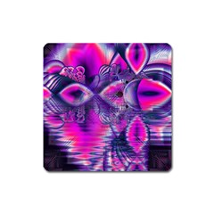 Rose Crystal Palace, Abstract Love Dream  Magnet (square) by DianeClancy