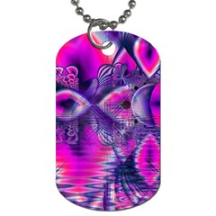 Rose Crystal Palace, Abstract Love Dream  Dog Tag (one Sided) by DianeClancy