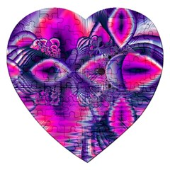 Rose Crystal Palace, Abstract Love Dream  Jigsaw Puzzle (heart) by DianeClancy